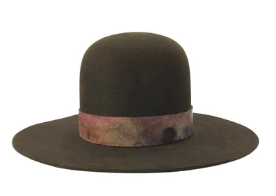 hatWRKS original hat with an open crown with cut brim