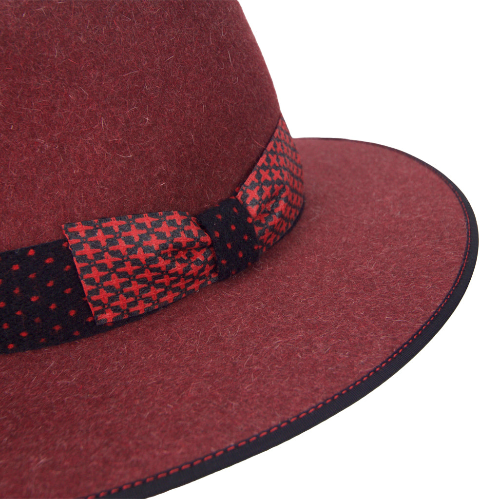 wool polkadot hatband on hatWRKS original