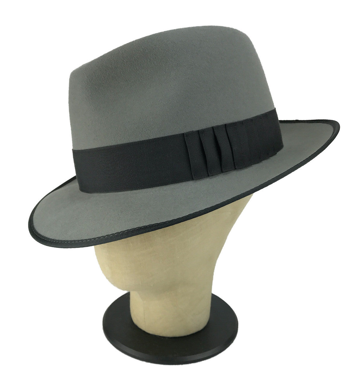 pleated hatband fedora