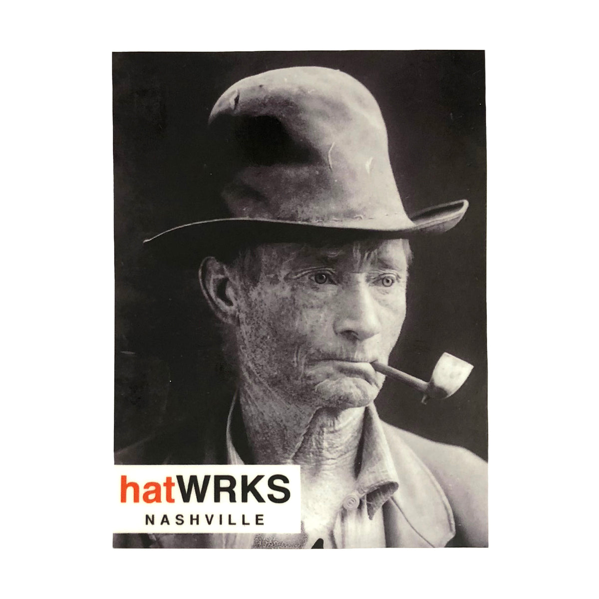 "hatWRKS sticker ~ ""colorado man tintype"""