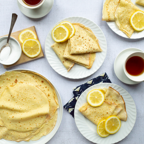 English Sugar and Lemon Pancakes