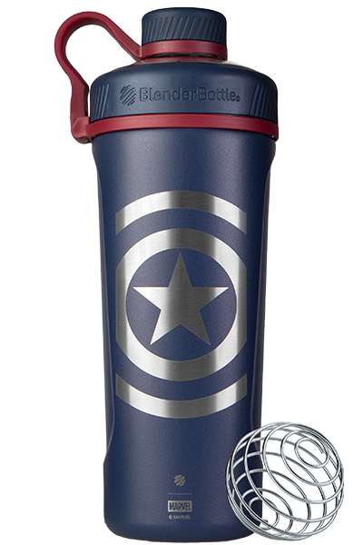 Captain America Insulated Stainless Steel Marvel Blender Bottle - Blue