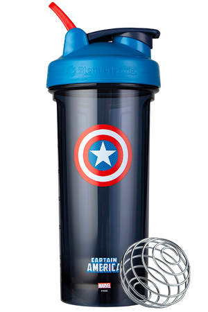 Captain America Marve Pro Series Odor Resistant Protein Shaker Bottle