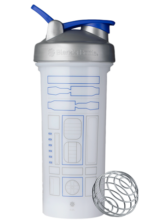 Star Wars Pro Series BlenderBottle White R2-D2 Design with BlenderBall