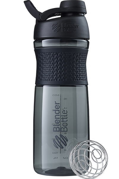 SportMixer Shaker Cup and Water Bottle - 28oz - Black