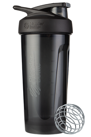 Strada Tritan Odor Resistant Blender Bottle - Black