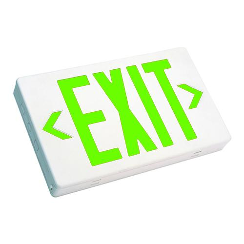 Westgate XT-GW-2C 3.8W Green Led Two-Circuits Exit Sign White Housing 120~277V