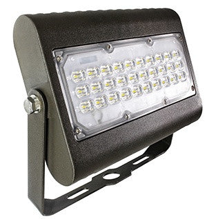 Westgate 50W LED Flood Light with Trunnion 120-277V - Dark Bronze, UL Listed - Southern California Electric
