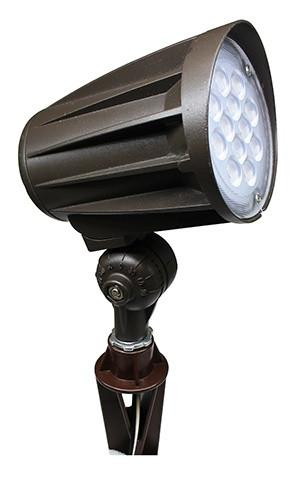 "Westgate 12V LED Bullet Landscape Flood Light with 1/2"" Knuckle - 6W, 12W, 24W, or 32W"