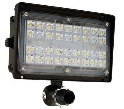 ELCO Lighting EFL1550S Knuckle Mount LED Floodlights 15W 5000K 2000 lm 120/277V Dark Bronze Finish