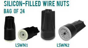 Westgate SILICON-FILLED WIRE NUTS: BAG OF 24 or 100