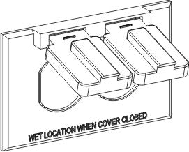 Orbit 1C-DH Weatherproof Duplex Cover - 3 Colors - Southern California Electric