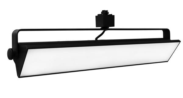ELCO Lighting ETW4340B LED Pipe Wall Wash Track Fixture 40W 4000K 2700 lm Black Finish