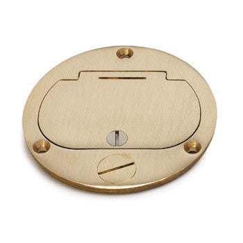 "Lew Electric DFB-1-1/2 Brass Hinged 4"" Cover"