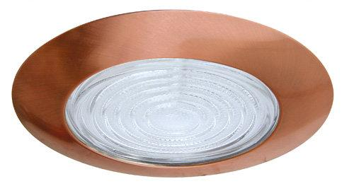 Elco EL13 6 Shower Trim with Fresnel Lens - Copper Ring - Southern California Electric