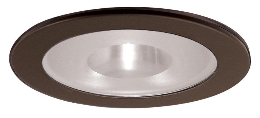 Elco EL1415 4 Low Voltage Adjustable Shower Trim with Frosted Pinhole Lens  - Bronze - Southern California Electric