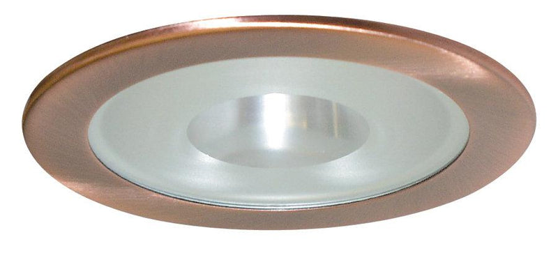 Elco EL1415 4 Low Voltage Adjustable Shower Trim with Frosted Pinhole Lens  - Copper - Southern California Electric