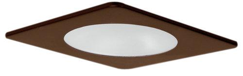 Elco EL2412 4 Low Voltage Square Adjustable Shower Trim with Frosted Lens  - Bronze - Southern California Electric