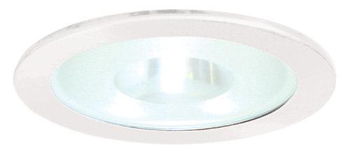Elco EL24 6 Shower Trim with Frosted Pinhole Glass Lens - White - Southern California Electric