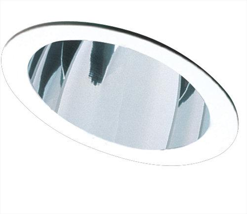 Elco EL616 6  120V and CFL Sloped Reflector Trim  - Clear Reflector, White Ring - Southern California Electric