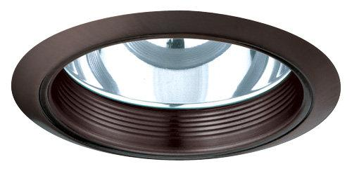 Elco ELA101 6 CFL Clear Reflector with Baffle  - Bronze Baffle, Bronze Ring - Southern California Electric