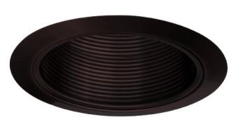 Elco ELM40BB 6  Line Voltage PAR38/R40 Trim with Metal Step Baffle - All Black - Southern California Electric