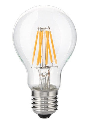 Westgate LED A19 Filament Light Bulb - 7W, Dimmable, Clear Glass, Warm/Natural White - Southern California Electric