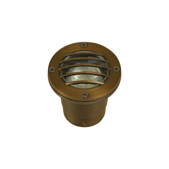 Oak 12V Brass GW202-AB Grilled In-Ground Antiqe Bronze W/LED Lamp