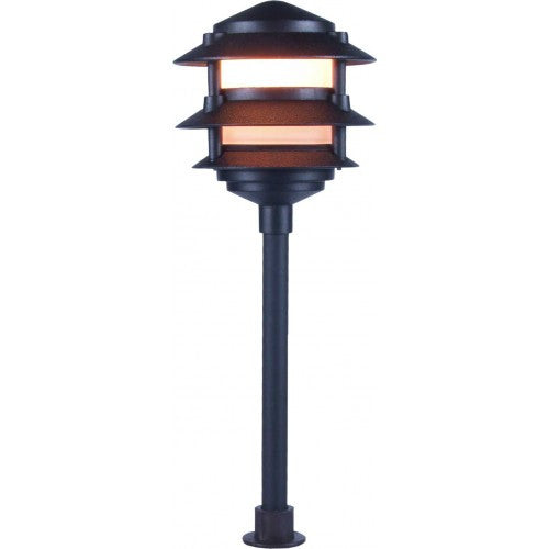 Orbit 2030 Cast Aluminum 3-Tier Low Voltage Pagoda Path Landscape Light - Southern California Electric