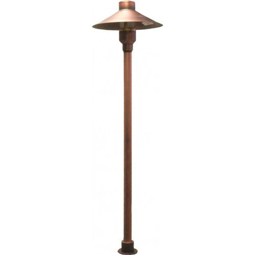Orbit B225 Solid Brass Large Mushroom Landscape Path Light - Southern California Electric