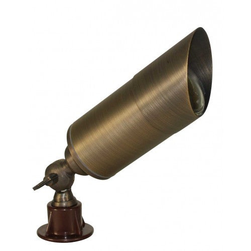 Orbit B160SH 12V Solid Brass Directional Bullet Landscape Light with Shroud - Southern California Electric