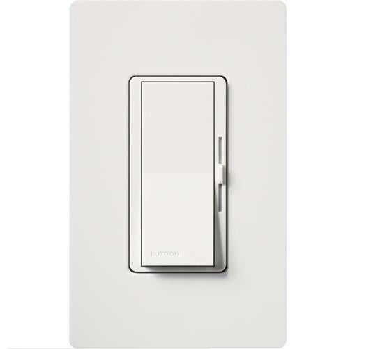 Lutron Diva DV-600P Single Pole 120 Volt 600 Watt Dimmer - White