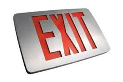 Westgate XD-TH-1RAAEM Thin Die cast Red Led Single Face Exit Sign 120~277V