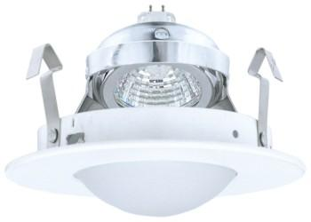 Elco EL1416W Low Voltage Adjustable Shower Trim with Round Drop Frosted Lens - White - Southern California Electric