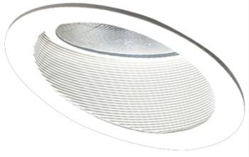 Elco EL624W 6  Sloped Phenolic Baffle with Gimbal Ring - White - Southern California Electric