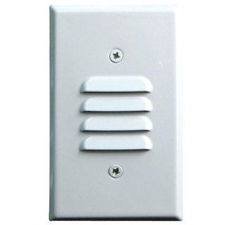 Elco ELST74 12V LED Vertical Mini Step Light with Louvered Faceplate - Southern California Electric