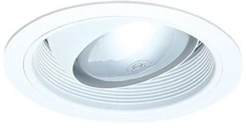 Elco ELM48W 6  Line Voltage PAR30/R30 Regressed Eyeball Trim with Baffle- White - Southern California Electric