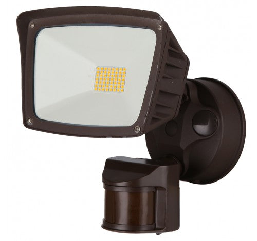Westgate 28W LED Security Light with Dimming PIR Sensor - 1-Light, Bronze