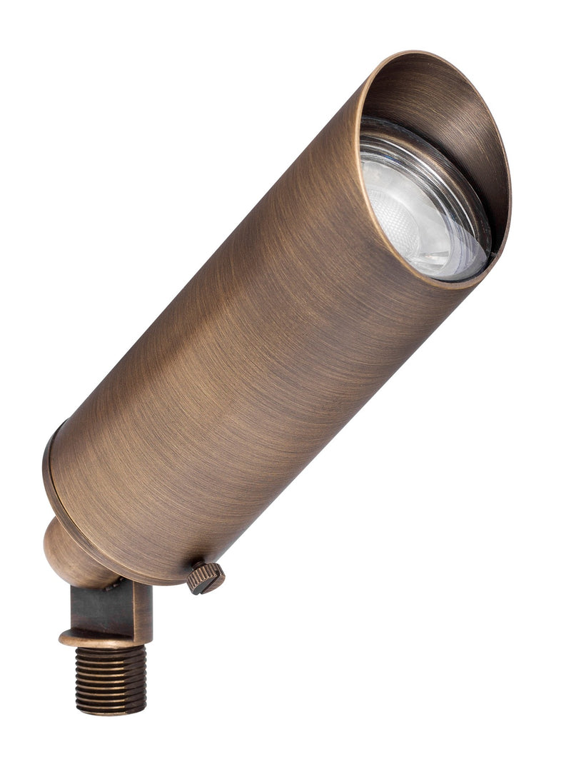 Westgate 12V 5W LED Smooth Directional Light - Cast Solid Brass, Antique Bronze, 3000K - Southern California Electric