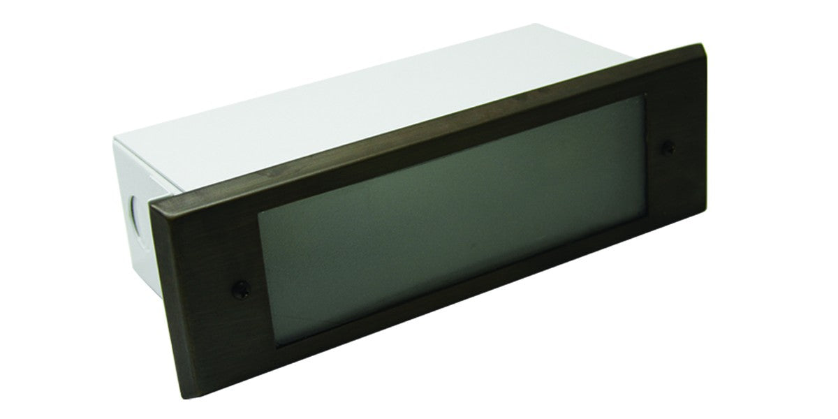Westgate 12V 3W Solid Brass Rectangular LED Step Light, Bronze or Aged Nickel Finish - Southern California Electric