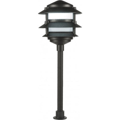 Orbit L2030 LED Outdoor 3-Tier Pagoda Path Landscape Light - 12V, Cast Aluminum - Southern California Electric