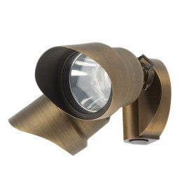 Best Quality Lighting LV72 Die Cast Brass Low Voltage Wall Mount Light- Double Head - Southern California Electric