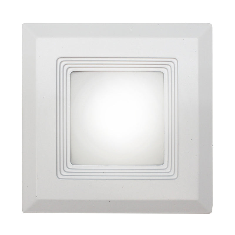 "Westgate 15W 6"" Baffle Square Downlight LED Trim 120V - White, UL Listed - Southern California Electric"