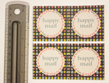 "Happy Mail Alhamdulillah - 2"" Circle Islamic Happy Mail Stickers"