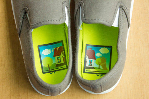 Left- Right Shoe Stickers - Unisex