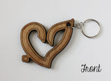 """Hub"" حب  Wooden Islamic Keychain - A Little Muslim Shoppe - 2"