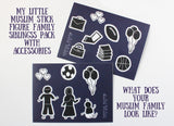 Bonus Accessories with Siblings Pack - My Little Muslim Stick Figure Family - Car Stickers - A Little Muslim Shoppe - 3