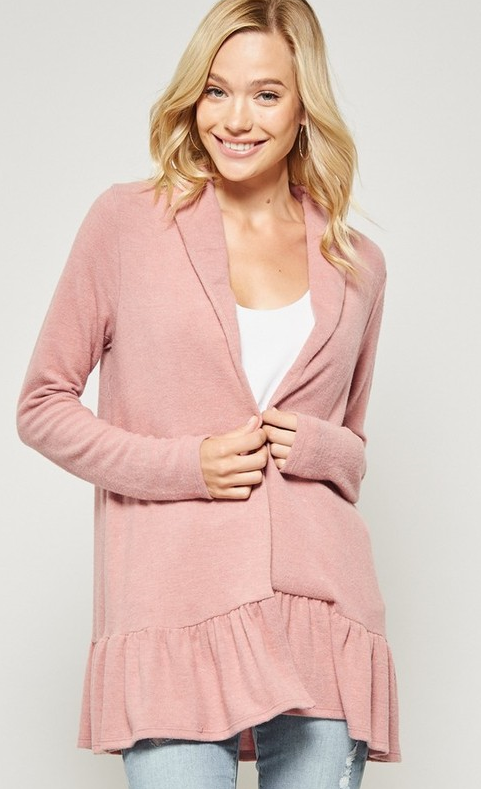 Cardigan Jacket - Peach