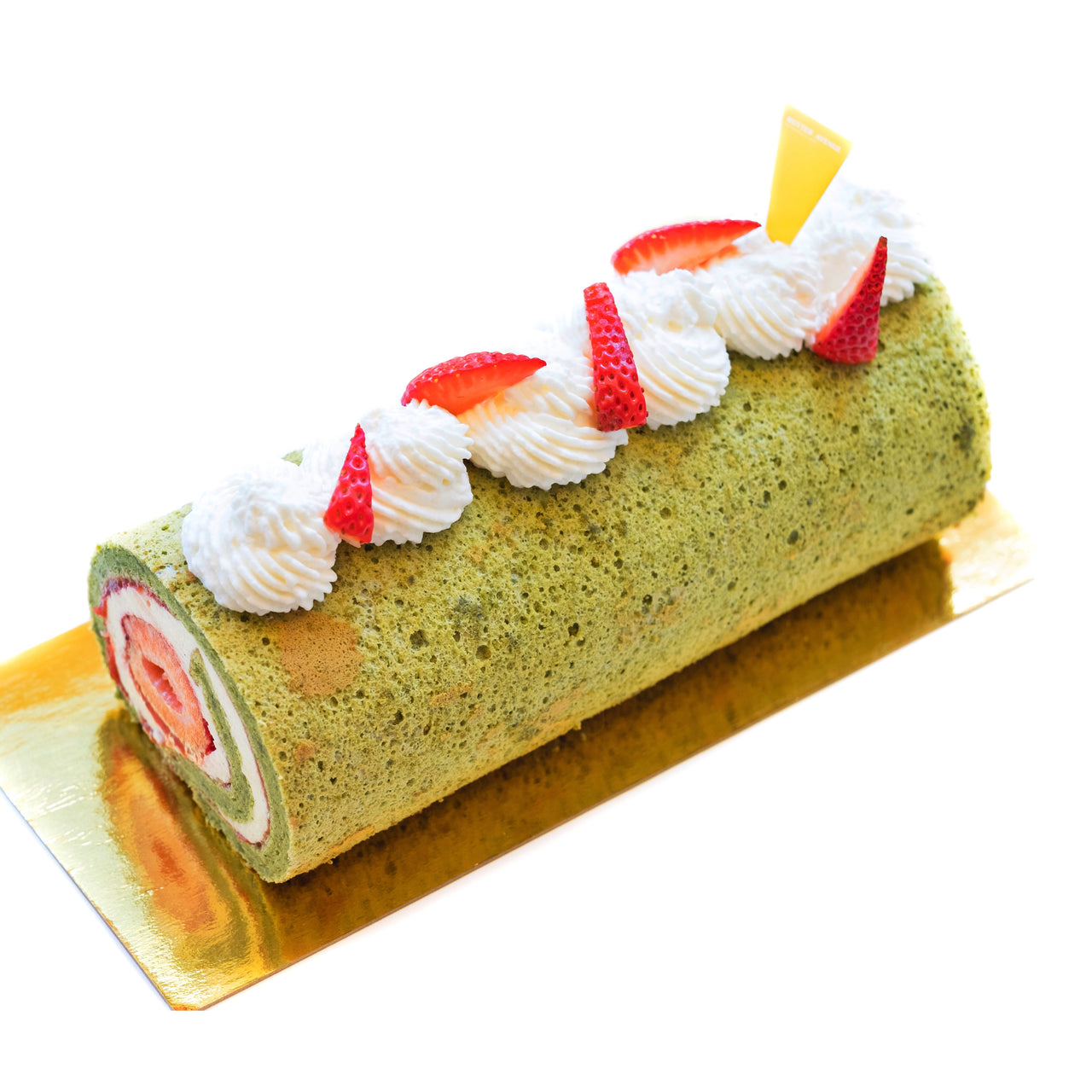 Strawberry Matcha Roll Cake