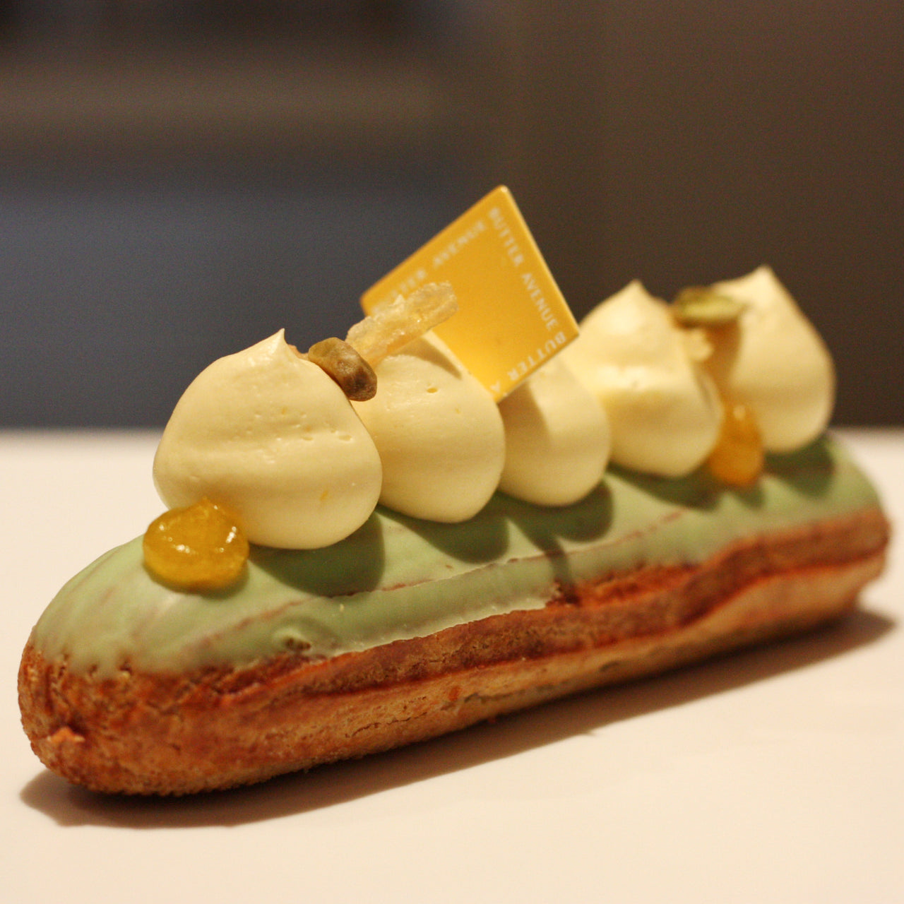 Éclair Orange Pistachio